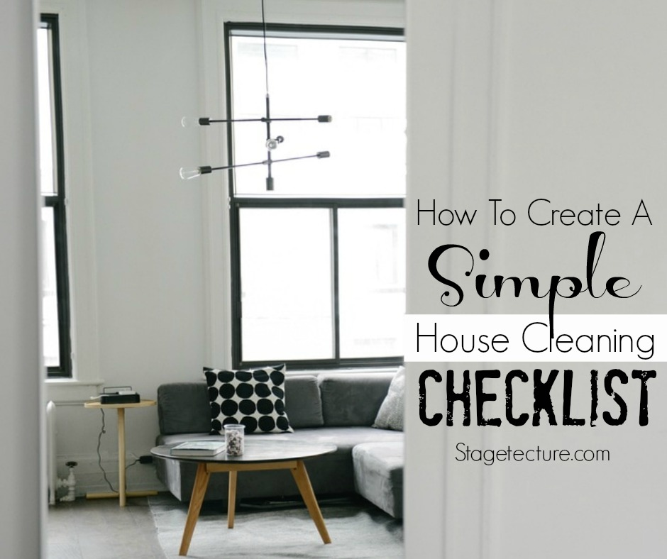 How to create a simple house cleaning checklist mogul for Minimalist house cleaning