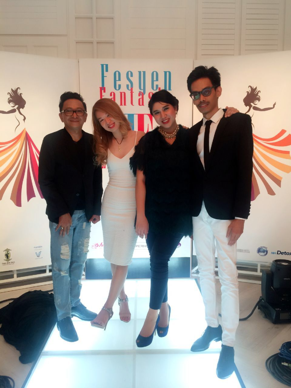 The judges, mentor and me at the Fesyen Fantasia finals.