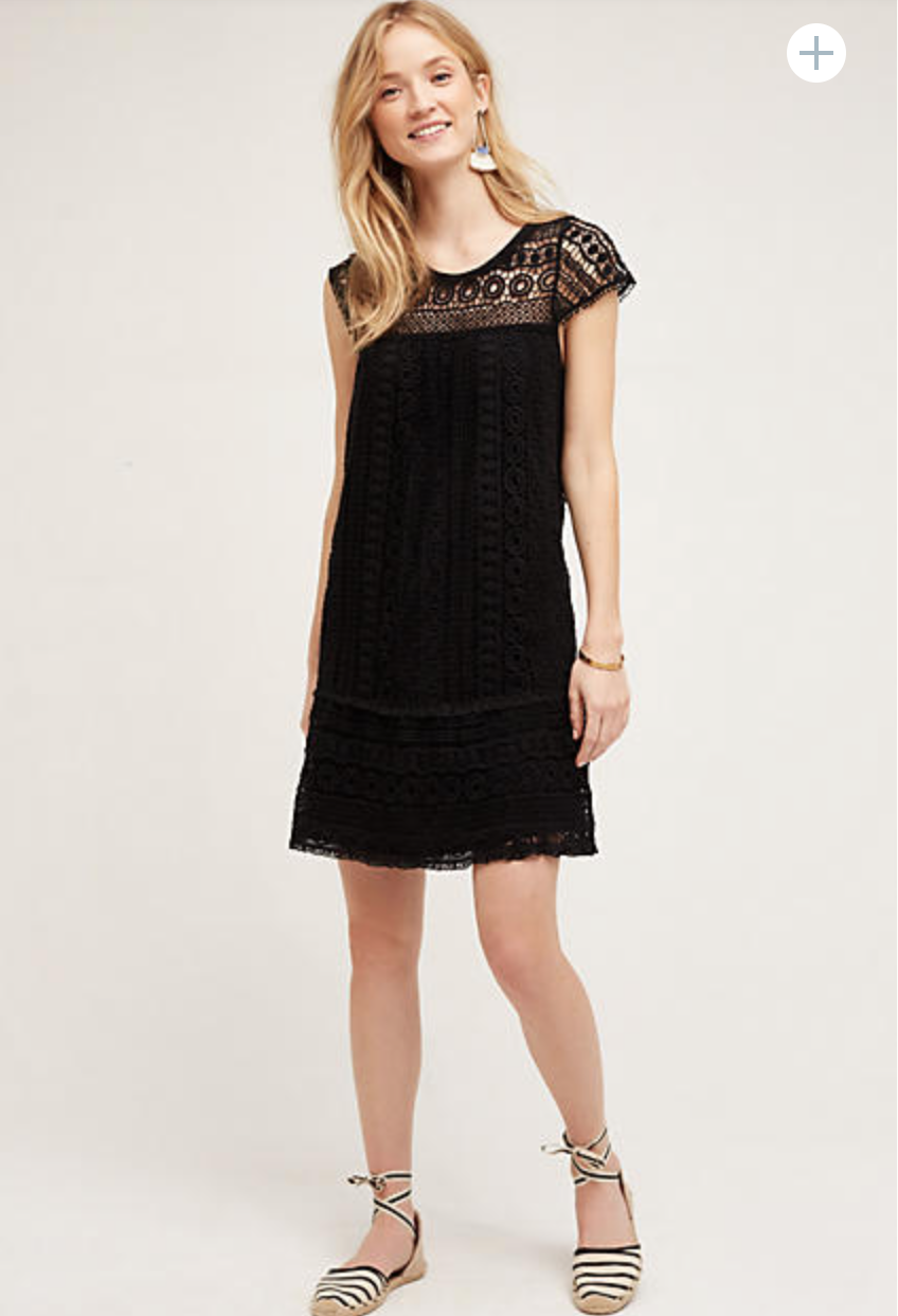 Cutwork Column Dress