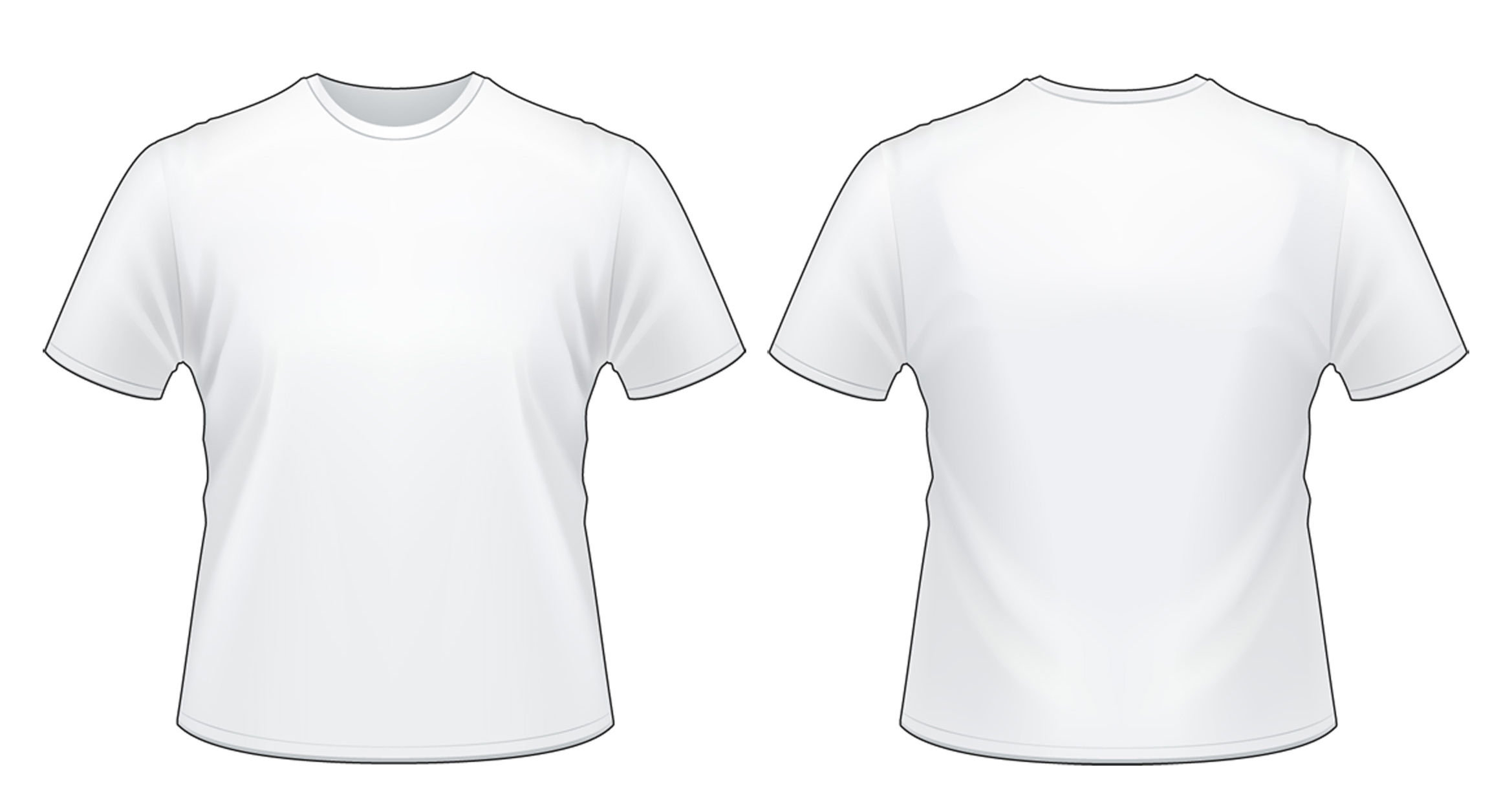 white t shirt with pocket template