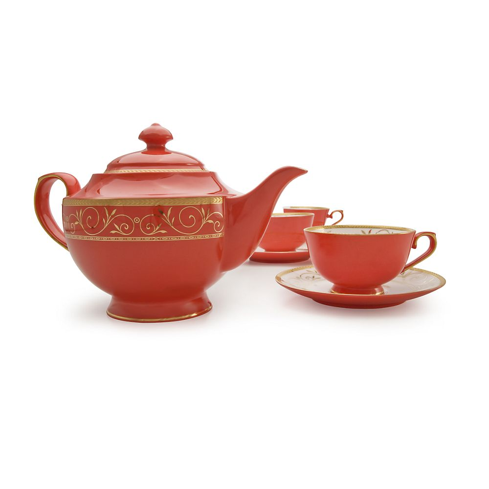 Teavana ruby filigree bone china tea set mogul - Teavana tea pots ...