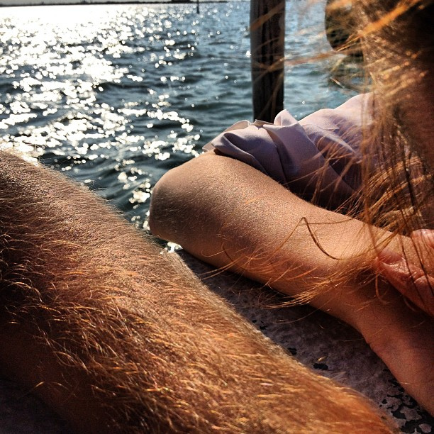 My girlfriend has hairy arms