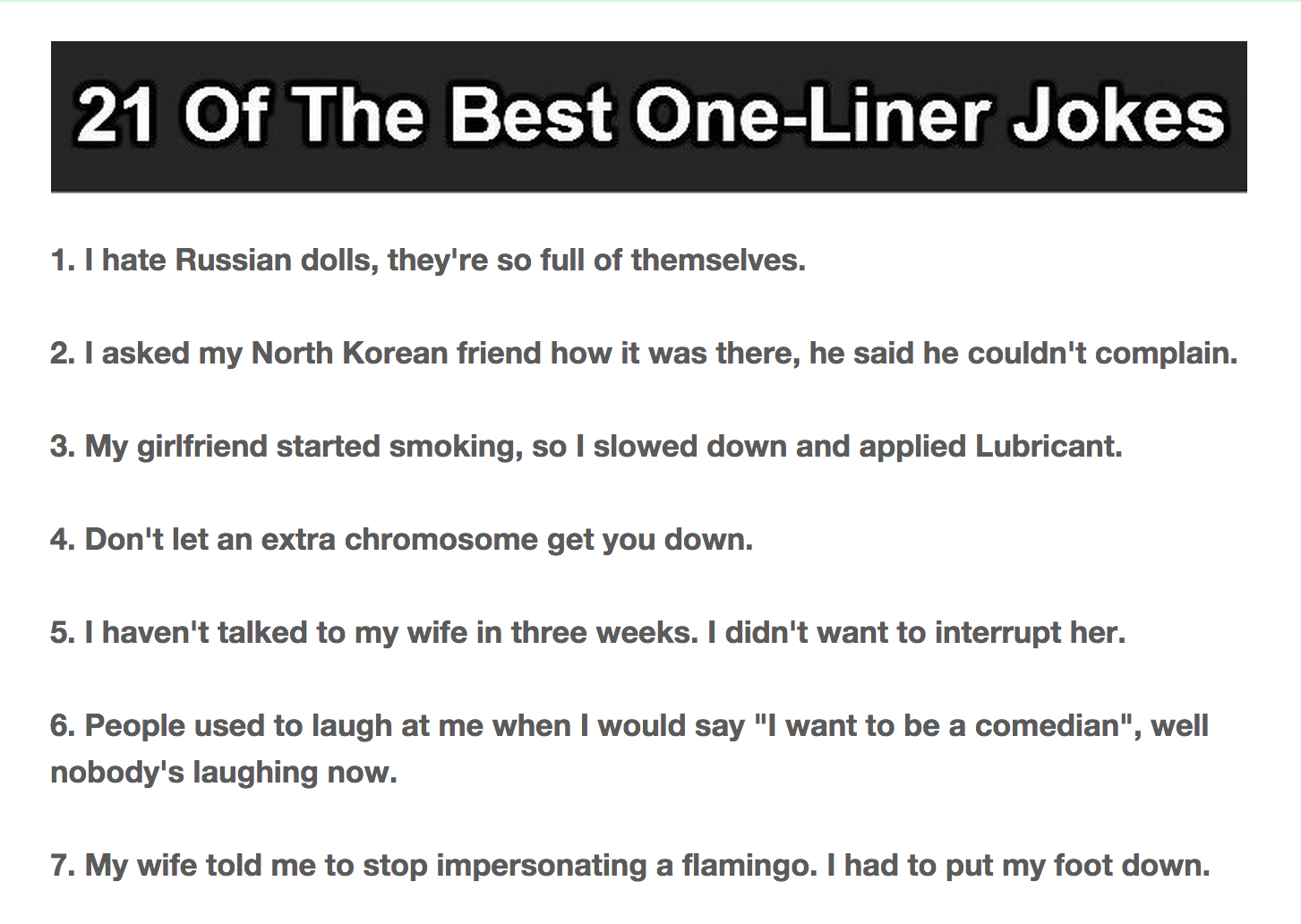 One liner line cunnilingus jokes
