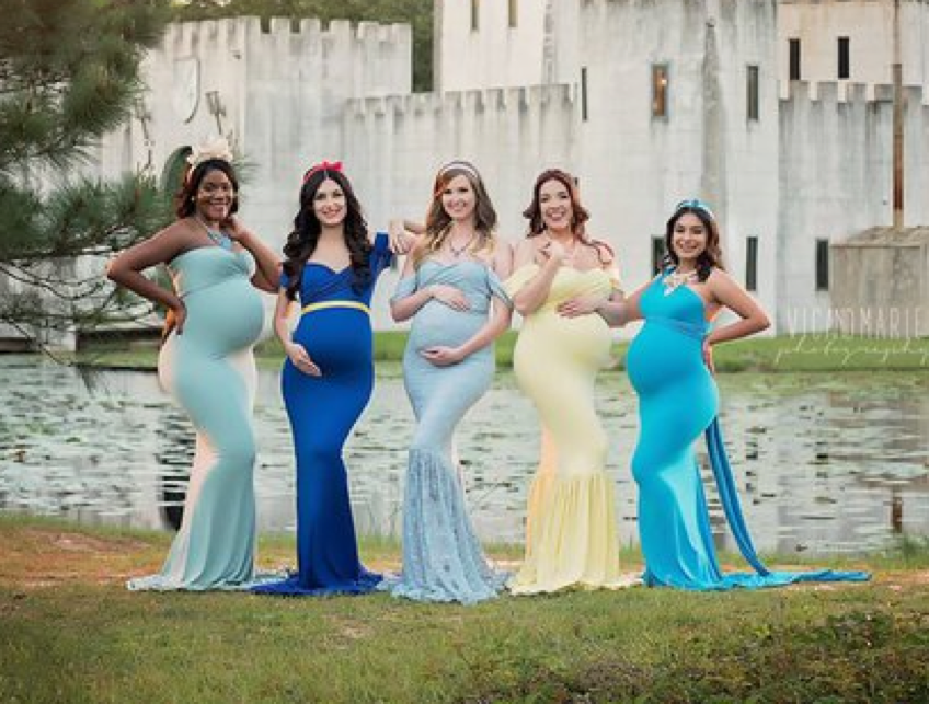 Expectant Moms Dazzle In Disney Princess Inspired Photo Shoot Mogul